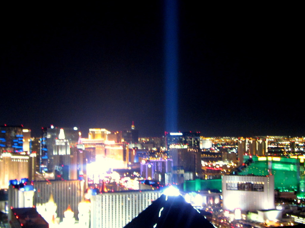 View from The Mix Bar, Vegas